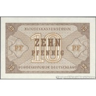 TWN - GERMANY, FEDERAL REPUBLIC 26 - 10 Pfennig 1967 No Serial UNC - [ 7] 1949-… : RFD - Rep. Fed. Duitsland