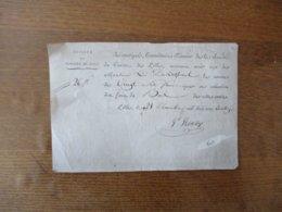 SOCIETE DU CONCERT DE LILLE LE 28 DECEMBRE 1814 RECU DE 26 FRANCS POUR COTISATION DES FRAIS DU BAL SIGNE RENTY - Documentos Históricos