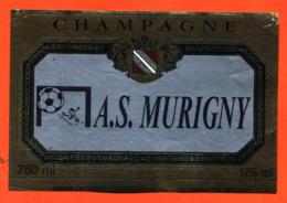 étiquette De Champagne Brut Club De Football A S Murigny Forget Favereaux à Ludes - 75 Cl - Football