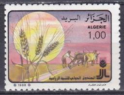 Algerien Algeria Algerie 1988 Wirtschaft Economy Landwirtschaft Agriculture Getreide Crops Pflug Plough FIDA, Mi. 963 ** - Algérie (1962-...)