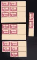 ALGERIE Petit Lot De Timbres Neufs Avec Bord De Feuille N° 104,  N° 105, N°106, N° 107 ( Bloc De 12 ) - Algérie (1924-1962)