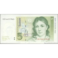 TWN - GERMANY, FEDERAL REPUBLIC 37 - 5 Deutsche Mark 1.8.1991 Replacement YXXXXXXXAX UNC - [ 7] 1949-… : RFA - Rep. Fed. De Alemania