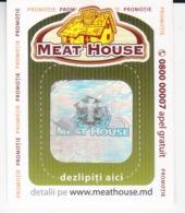 MOLDOVA   MOLDAVIE   MOLDAWIEN  MOLDAU ,  Meat House,  Lotery Tichet , Used - Moldova