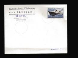 ALGERIE  Premier Jour En Algérie Du Paquebot France N° 1325 De 1962  Cachet Vide - Storia Postale