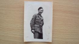 PUGLIA FOGGIA FOTO MILITARE EX RSI LUOGOTENENZA DIVISA AMERICANA USA? 1944 MISURA CM. 9,5x6,5 - Guerra, Militari