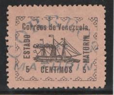 VENEZUELA 1903 – Estado Maturin - 5 Centimos (Yvert N° 92) Oblitéré (cancelado) (Lot 1) - Venezuela