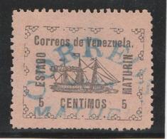VENEZUELA 1903 – Estado Maturin - 5 Centimos (Yvert N° 92) Oblitéré (cancelado) (Lot 2) - Venezuela