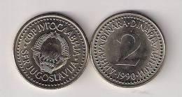Yugoslavia 2 Dinara 1990.  KM#143 - Joegoslavië
