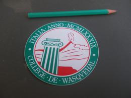 Autocollant - Ville - WASQUEHAL AMERIQUE 1989 - Stickers