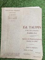 CATALOGUE MANUFACTURE FRANCAISE D4USTENSILES EN AMIANTE ED TAUPIN 5 RUE CHAUSSON PARIS - 1900 – 1949
