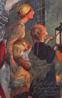 OLD DANISH CHRISTMAS~JOHN BACON~TUCK OILETTE BEST CHRISTMAS WISHES  POSTCARD 41747 - Altri