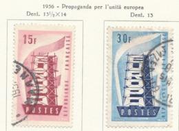 PIA - FRA - 1956 : Europa - (Yv 1076-77) - Europa-CEPT