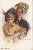 """Couple. Farewell""  Nice Vintage American Postcard - Parejas"