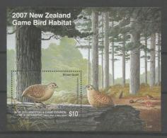 New Zealand 2007 Game Bird S/S  (0) - Blocks & Kleinbögen