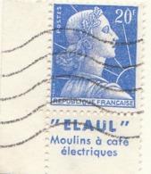 "PIA - FRA - 1955-59 : ""Marianna Di Muller"" Con Banda Pubblicitaria - (Yv 1011Bb) - France"