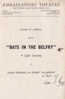 Bats In The Belfry Vivien Leigh  Lilian Braithwaite Ambassadors Theatre Programme - Programs