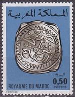 Timbre Neuf ** N° 747(Yvert) Maroc 1976 - Ancienne Monnaie Marocaine - Maroc (1956-...)