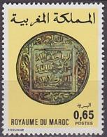 Timbre Neuf ** N° 748(Yvert) Maroc 1976 - Ancienne Monnaie Marocaine - Maroc (1956-...)