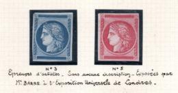 ** RARE ** - Essai Pour Nouvelle Fabrication - Lire Descriptif - 1849-1850 Cérès