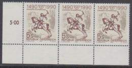 Austria 1990 500Y European Post 1v (strip Of 3) ** Mnh (44777B) - Europese Gedachte