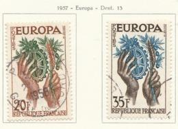 PIA - FRA - 1957 : Europa- (Yv 1122-23) - 1957