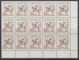 Austria 1990 500Y European Post 1v  Bl Of 15 (corner) ** Mnh (44777E) - Europese Gedachte