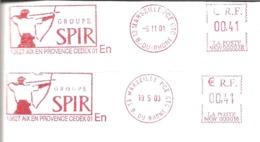 """2001 / 2003 :EMA """"SPIR"""" Tir à L'Arc : (n° NKW 000038  Et  NKW 000016 ) W= Machine De Remplacement - Boogschieten"""