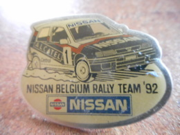 A044 -- Pin's Nissan Belgium Rally Team 92 -- Exclusif Sur Delcampe - Pin's & Anstecknadeln