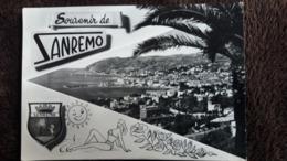 CPSM SOUVENIR DE SAN REMO BLASON PIN UP DESSIN VUE - Souvenir De...