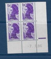 """SPM Coins Datés YT 469 """" Liberté 10F Violet """" Neuf** Du 7.1.86 - Unused Stamps"""