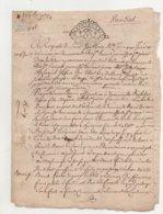 Bretagne Vannes 1737 Documents Provenant Des Archives Et Collection De J.L. Debauve Historien Et Critique Littéraire. - - Manuscrits