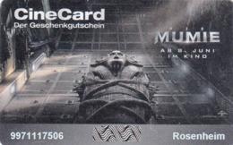 GERMANY - KINOPOLIS/ROSENHEIM , Die Mumie Movie, Gift Card - Gift Cards