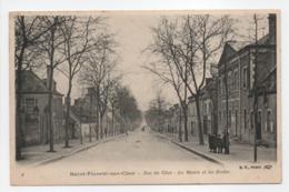 - CPA SAINT-FLORENT-SUR-CHER (18) - Rue Du Cher - La Mairie Et Les Ecoles - Edition B. F. N° 8 - - Saint-Florent-sur-Cher