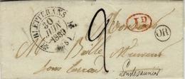 1839- Lettre De BLETTERANS  ( Jura )  Cad T12  + OR  De Ruffeys - 1801-1848: Précurseurs XIX