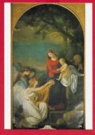 CARTOLINA NV ITALIA - Sacra Famiglia E Angeli - FRANCESCO MENAGEOT - Basilica Di Monte Berico VICENZA - 10 X 15 - Pittura & Quadri