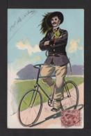 CPA . Militaire Italien à Vélo . - Uniformes