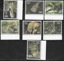 CAMBODIA, 2019, MNH, CATS, WILD CATS, FISHING CAT, FISH,7v, SCARCE - Big Cats (cats Of Prey)