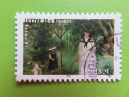 """Timbre France YT 3867 (N° 75 AA) - Art - Peinture - """"La Chasse Aux Papillons"""" De Berthe Morisot - 2006 - Cachet Rond - Sellos Autoadhesivos"""