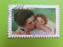 """Timbre France YT 3868 (N° 76 AA) - Art - Peinture - """"Mère Et Enfant"""" De Mary Cassatt - 2006 - Cachet Rond - Sellos Autoadhesivos"""