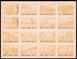 Crociera Italiana Dirigibile Zeppelin (immagini Diverse Di Roma Con Sagoma Del Dirigibile) - Giallo - 1933 - 1900-44 Victor Emmanuel III.