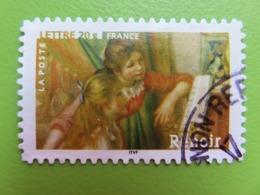 """Timbre France YT 3869 (N° 77 AA) - Art - Peinture - """"Jeunes Filles Au Piano"""" D'Auguste Renoir - 2006 - Cachet Rond - Autoadesivi"""