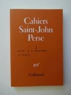 CAHIERS DE SAINT JOHN PERSE N° 3...ED.GALLIMARD 1980 - Poëzie