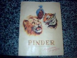 Vieux Papier PROGRAMME Cirque PINDER Année 1930? Avec Pubs - Programmes
