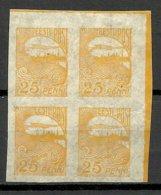 ESTLAND ESTONIA 1924 Michel 53 As 4-Block Sheet Corner MNH - Estland