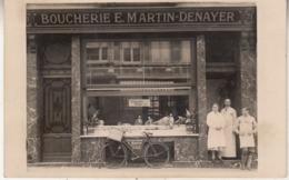 Boucherie E. Martin-Denayer - à Situer - Carte-photo - Geschäfte