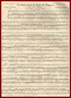 Cantate Pour Le Jour De Pâques De J.S Bach. Paroles Françaises Bouchor. Réduction Au Piano Par Guilmant. 1910. - Vieux Papiers