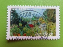 """Timbre France YT 3871 (N° 79 AA) - """"Mademoiselle Gachet Dans Son Jardin"""" De Vincent Van Gogh - 2006 - Cachet Rond - Autoadesivi"""