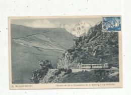 Cp, Chemin De Fer à Cremaillère , Train,  64 , SAINT JEAN DE LUZ , De La Rhune à La Brèche, Voyagée 1948 - Trenes