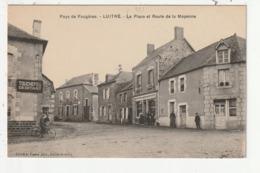LUITRE - LA PLACE ET ROUTE DE LA MAYENNE - 35 - France