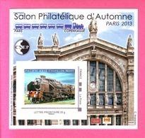 BLOC CNEP 2013 N° 64 ** SALON PHILATELIQUE AUTOMNE TRAIN PACIFIC 231E CHAPELON NORD AVEC TP MONTIMBRAMOI - CNEP